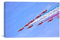 The RAF Red Arrows 3, Canvas Print