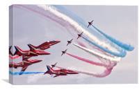 RAF Red Arrows, Canvas Print