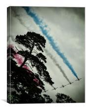 RAF Red Arrows Aerobic Team., Canvas Print