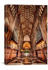 St Mary Redcliff, Bristol. The Nave & Organ., Canvas Print