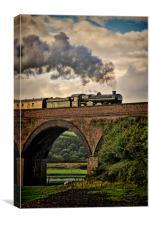 Nunney Castle 5029 Steam Train., Canvas Print