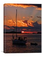 Ibizan Sunset., Canvas Print