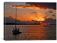 Golden Glow of Ibiza, Canvas Print
