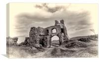 Pennard Castle, Gower Peninsular., Canvas Print