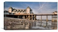 Penarth Pavillion & Pier., Canvas Print