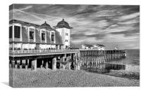 The Pier and Pavillion in Penarth, Canvas Print