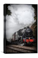 Mid Wales Steam Locomotive., Canvas Print