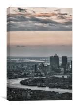 Canary Wharf, London., Canvas Print