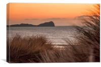 Worms Head at Dusk., Canvas Print