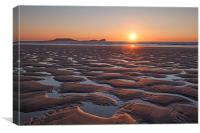 Golden Sands on The Gower., Canvas Print