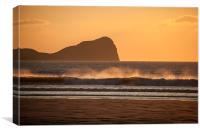 Spray on the Waves., Canvas Print