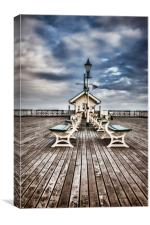 At the end of the Pier. , Canvas Print