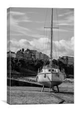 Moored., Canvas Print