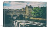 Pulteney Bridge & The Weir, Bath., Canvas Print