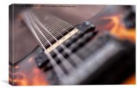 Ibanez Guitar., Canvas Print