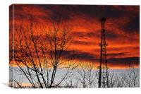 Smokin` Sunset, Canvas Print