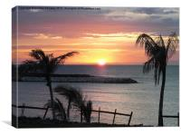 jamaican sunset, Canvas Print