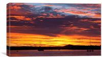 Australian Sunset, Canvas Print
