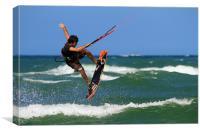 Kitesurfing, Canvas Print