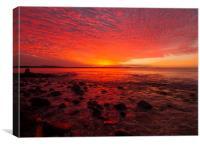 Blazing Noosa Sunset, Canvas Print