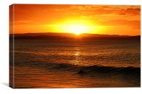 Surfer at Sunset, Canvas Print