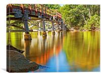 Old bridge over Weyba Creek, Canvas Print