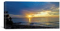 Surfers at Sunset, Canvas Print