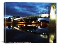 Wilford Suspension Bridge Nottingham, Canvas Print