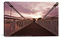Suspension Bridge, Wilford, Canvas Print