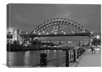 Tyne Bridge at Night, Canvas Print