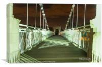 Shadows on Wilford Bridge, Canvas Print