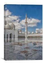 Golden Mosque Abu dhabi , Canvas Print
