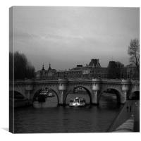 Sur la Seine, Canvas Print
