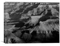 Shadows on the Silence: Grand Canyon Landscape, Canvas Print