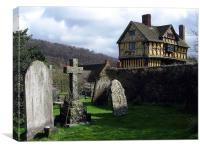Stokesay Castle, Shropshire, Canvas Print