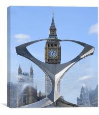 Big Ben thro' Revolving Torsion, Canvas Print