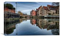 Fye Bridge, Norwich, Canvas Print
