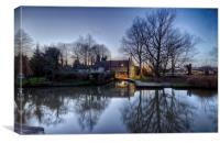 Pulls Ferry, Norwich, Canvas Print