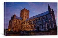 Cathedral Under a Twilight Moon, Canvas Print