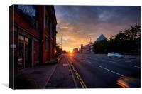Sunset On Queen's Road, Canvas Print