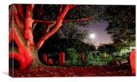 Graveyard at Midnight, Canvas Print
