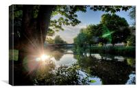 River Reflected Rays, Canvas Print