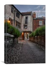 Tombland Alley, Norwich, Canvas Print