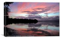 Sunset Verses the Storm, Canvas Print