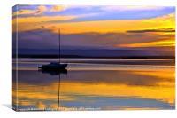 Winters Last Sunset 2, Canvas Print