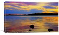 Rainbow Sunset, Canvas Print
