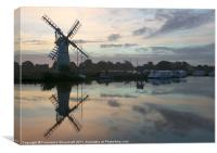 Thurne Mill at Dawn, Canvas Print