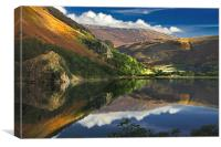 morning by Llyn Gwynant, Canvas Print