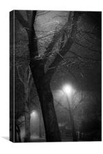 there's darkness after midnight, Canvas Print