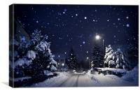 Blue Silent Night, Canvas Print